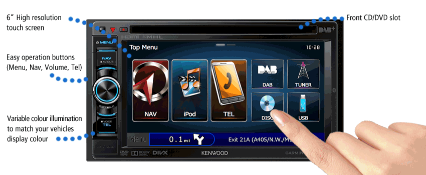dnxtr motorhome navigation system bull kenwood uk dnx450tr 6 touch screen