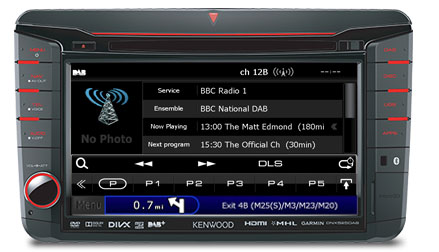 Volkswagen DAB Radio Station List on DNX525DAB