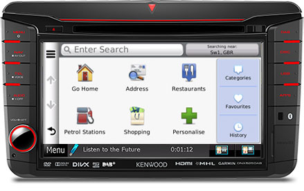 SKODA Navigation by Kenwood DNX525DAB