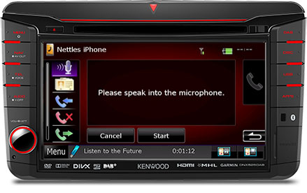 Bluetooth Kit Voice Dialing on Volkswagen