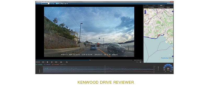 Dashboard Kenwood Drive Reviewer software DVR-410