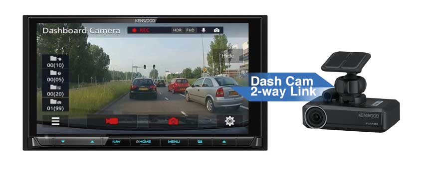 DRV-N520 dash cam link to Kenwood system