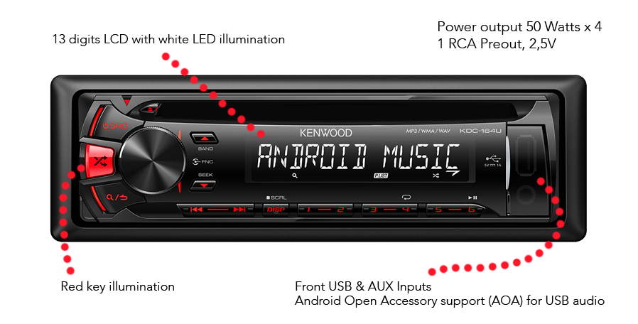 USB Car Stereo • KDC-164UR Features • KENWOOD UK