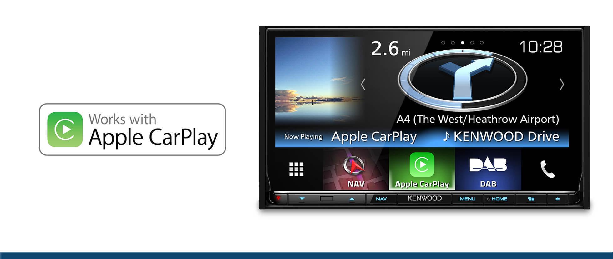 sat nav apple carplay android auto car audio dab. Black Bedroom Furniture Sets. Home Design Ideas