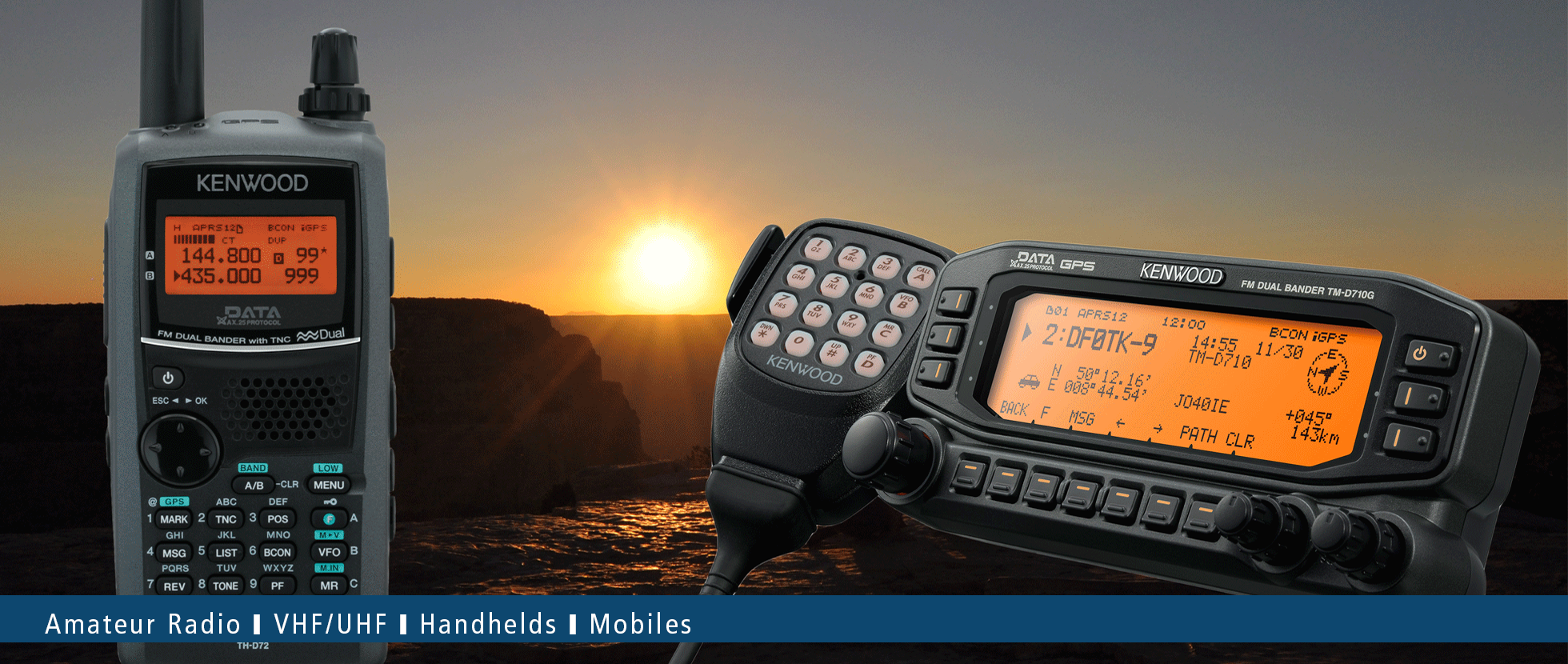 VHF/UHF Amateur Radios • Kenwood Comms