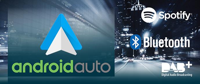 Multimediasystemen met Android Auto ondersteuning
