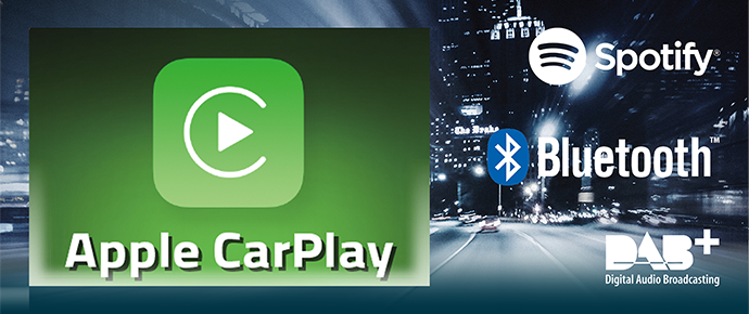 Multimediasystemen met Apple CarPlay ondersteuning.