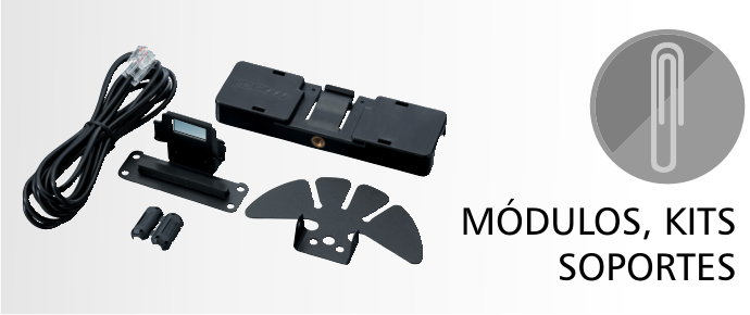 Módulos y Unidades Opcionales, Soportes y Kits de montaje